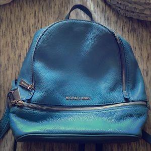 Michael Kors Blue Mini Backpack
